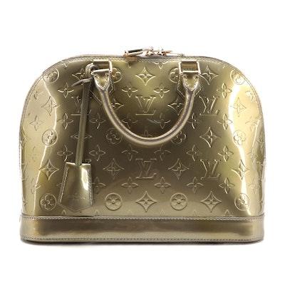 Louis Vuitton Alma PM in Gris Art Deco Monogram Vernis Leather