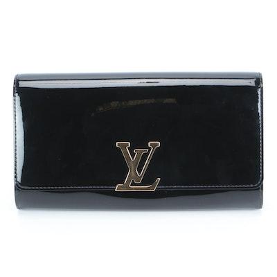 Louis Vuitton Louise Clutch in Noir Vernis Leather