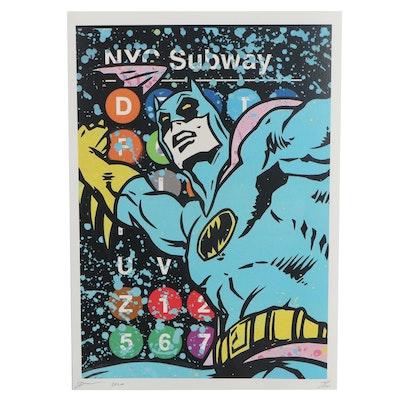 Death NYC Pop Art Offset Lithograph of Batman, 2020
