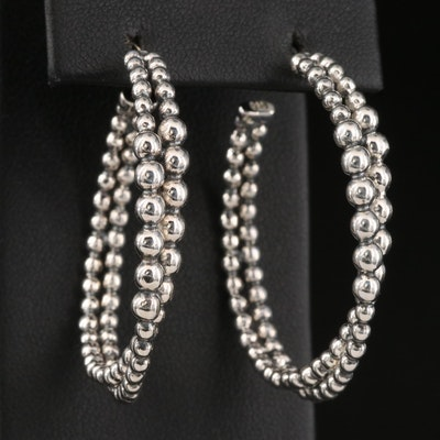 Michael Dawkins Sterling Silver Hoop Earrings
