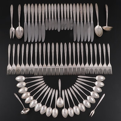"""Gorham """"Celeste"""" Sterling Silver Flatware and Utensils, Mid to Late 20th Century"""