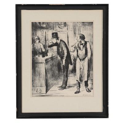 """Lithograph After Honoré Daumier """"Ami de Personne"""""""