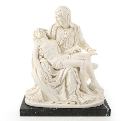 """G. Ruggeri Italian Resin """"Pietà""""  Sculpture after Michaelangelo"""