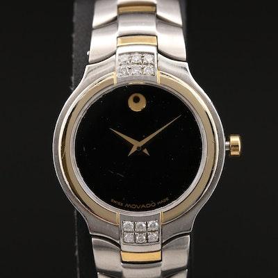Movado Museum Diamond Two-Tone Quartz Wristwatch