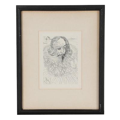 "Salvador Dalí Second Edition Restrike ""Cervantes"""