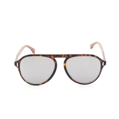 Fendi FF M0055/G/S Browline Sunglasses in Tortoise Acetate with Case