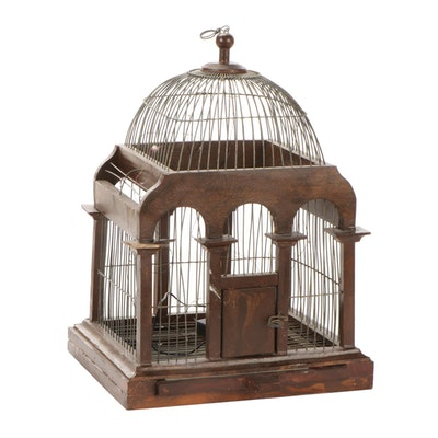 Wood and Wire Decorative Birdcage