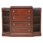 Federal Style Mahogany Console Cabinet with Secrétaire Drawer, 20th Century