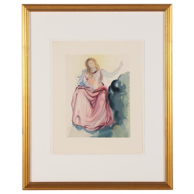 "Salvador Dalí Wood Engraving ""Beatrice"""