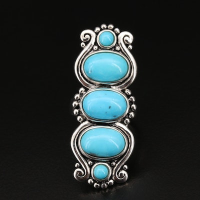 Sterling Turquoise Pointer Ring