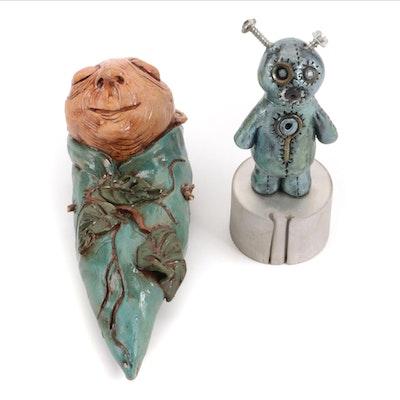Kristin Morris Ceramic and Found Object Sculptures, 21st Century