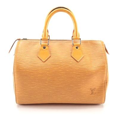 Louis Vuitton Speedy 25 in Tassil Yellow Epi Leather