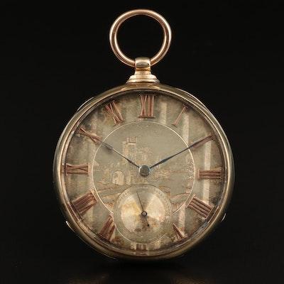 Antique 10K Swiss Pocket Watch