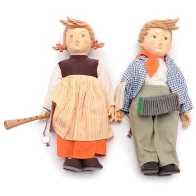 "Goebel ""Birthday Serenade"" Porcelain Dolls, Late 20th-Century"