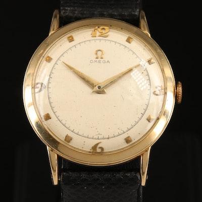 1950 Omega 14K Gold Stem Wind Ref. P6521 Wristwatch