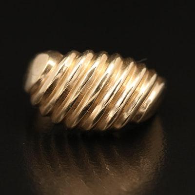 14K Shrimp Dome Ring