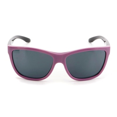 """Smith """"Eclipse"""" Modified Cat Eye Sunglasses in Mauve Black with Case"""