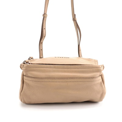 Givenchy Mini Pandora Bag in Light Brown/Beige Grained Leather