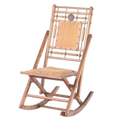 American Aesthetic Movement Walnut Rocking Chair, Late 19th Century