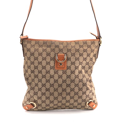 Gucci Abbey GG Canvas and Tan Leather