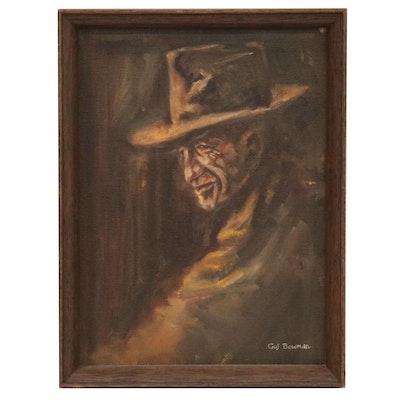 Gus Bowman Portrait Oil Painting