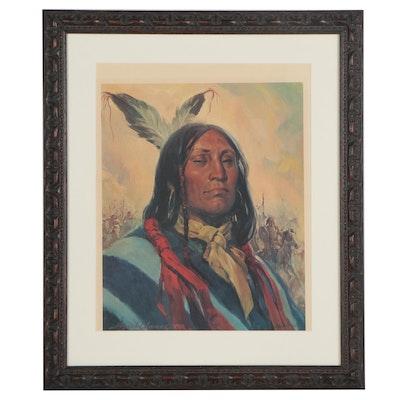 Reynold Brown Offset Lithograph Portrait