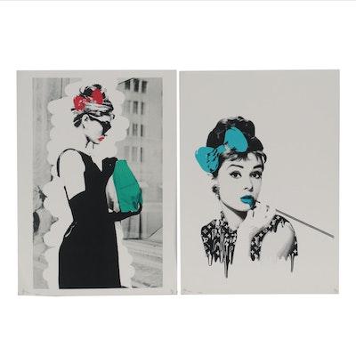 Death NYC Pop Art Offset Lithographs Featuring Audrey Hepburn, 2020