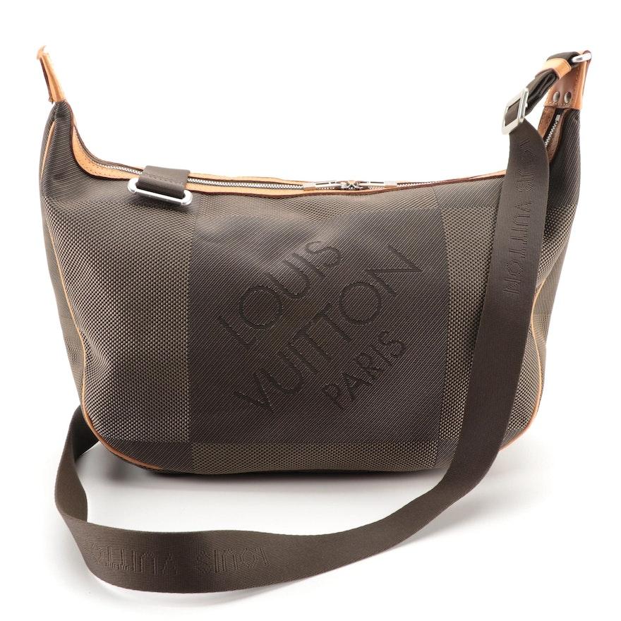 Louis Vuitton Explorateur Bag in Terre Damier Geant Canvas with Leather Trim