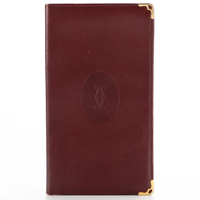 Cartier Burgundy Leather Card Case/Wallet