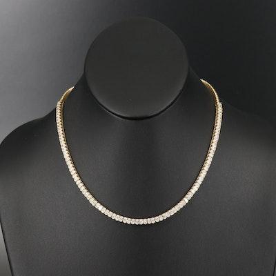 18K 10.06 CTW Diamond Line Necklace
