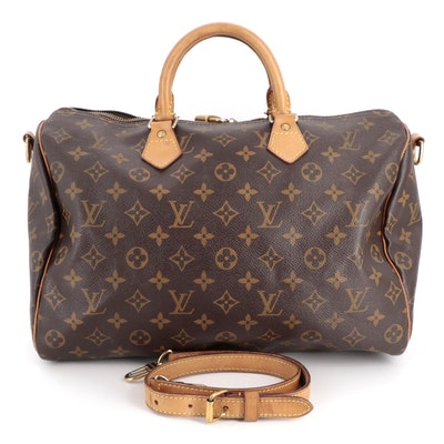 Louis Vuitton Speedy Bandouliere 35 in Monogram Canvas and Vachetta Leather
