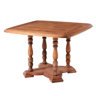 French Provincial Style Walnut Breakfast Table, Mid to Late 20th Century