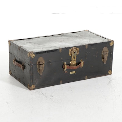 Ohio Bag and Suitcase Co. Metal Trunk, Early to Mid 20th Century