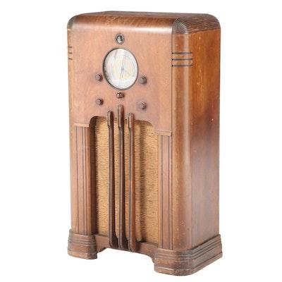 "The Sparks-Withington Co. ""Sparton 867"" Art Deco Walnut Floor Radio, circa 1936"