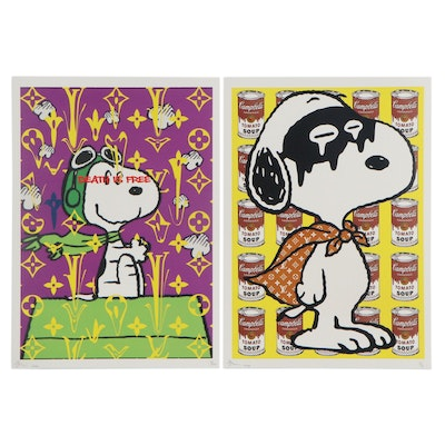 Death NYC Pop Art Graphic Prints of Snoopy, 2020