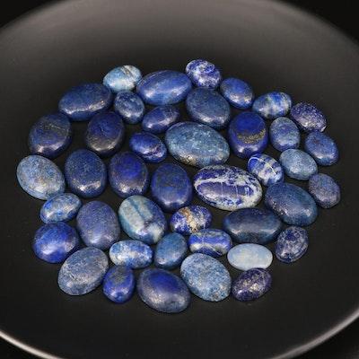 Loose Oval Lapis Lazuli Cabochons