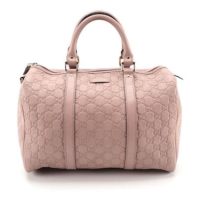 Gucci Joy Boston Bag in Blush Pink Guccissima Leather