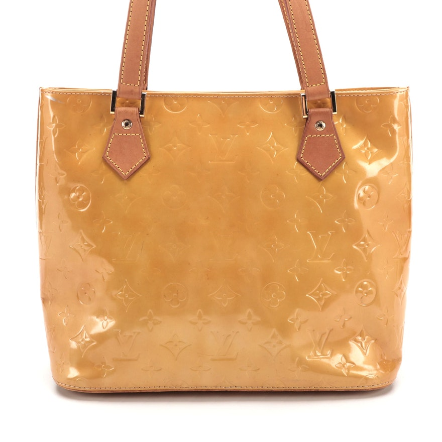Louis Vuitton Houston Bag in Monogram Vernis and Vachetta Leather