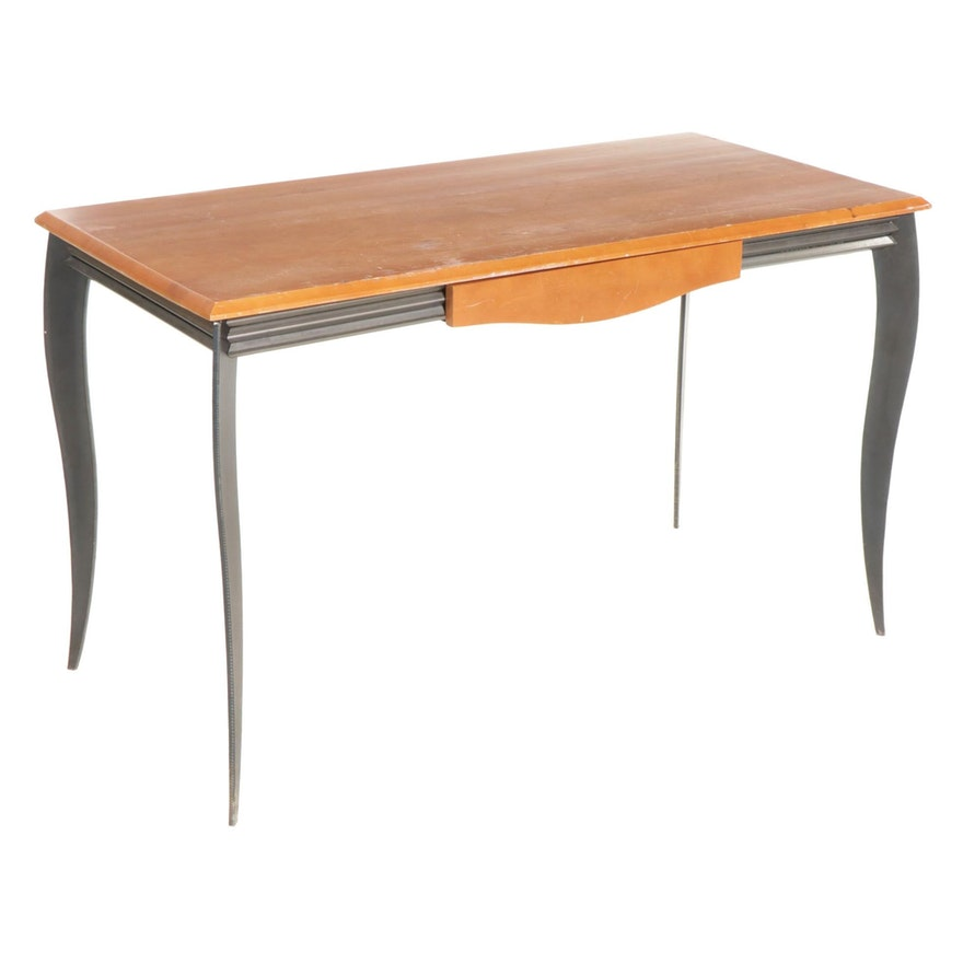 Contemporary Metal and Wood Work Table
