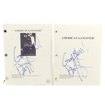 "Two Denzel Washington Signed ""American Gangster"" Scripts"