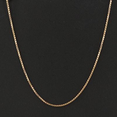 Italian 14K Box Chain Necklace
