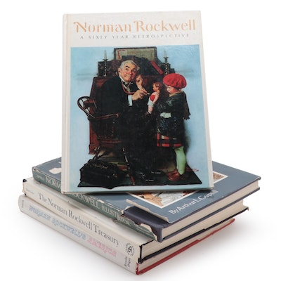 """Norman Rockwell Art Books Including The Norman Rockwell Treasury"""""""