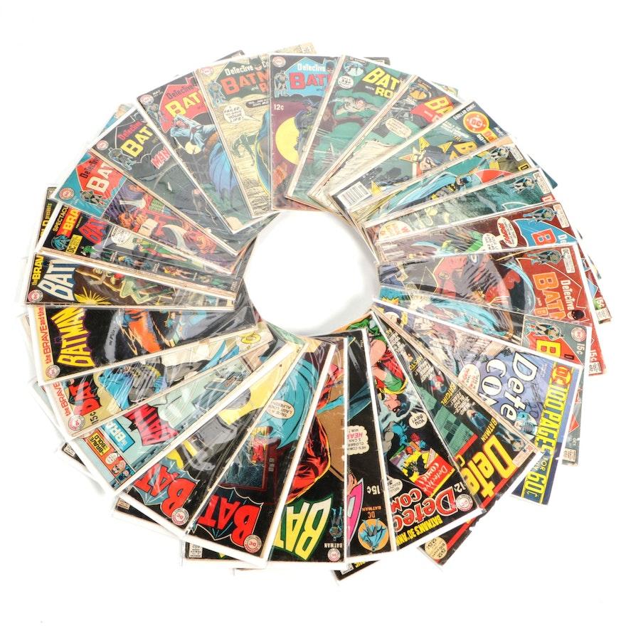 """Silver and Bronze Age """"Batman and Robin,"""" """"Batman and Batgirl"""" Comics, More"""