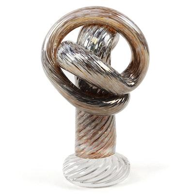 """Andy Hudson Art Glass """"Oro e Bianco il Vetro Cavatappi,"""" 2020"""