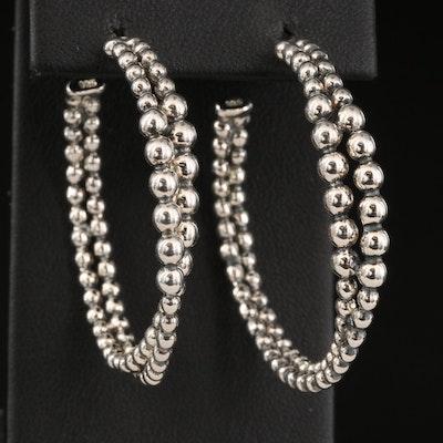 Michael Dawkins Sterling Silver Crossover Hoop Earrings