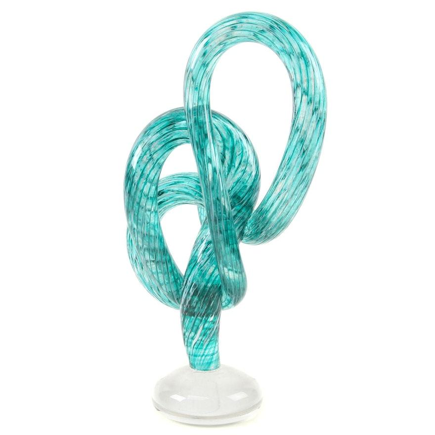 """Andy Hudson Art Glass """"Verde e Bianco il Vetro Cavatappi,"""" 2020"""