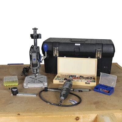 Dremel Rotary Tools with Stand and Assorted Fittings