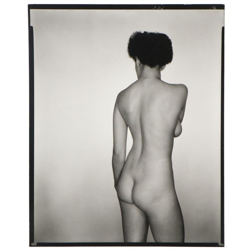 George Platt Lynes Silver Gelatin of Female Nude, Printed Later