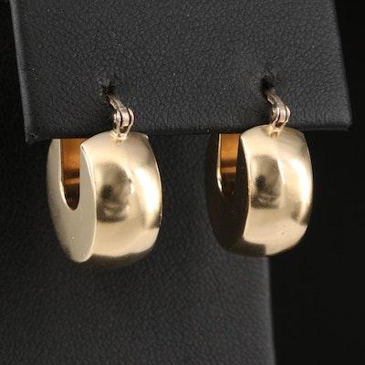 Italian 14K Huggie Earrings