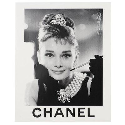 John Stango Pop Art Serigraph of Audrey Hepburn